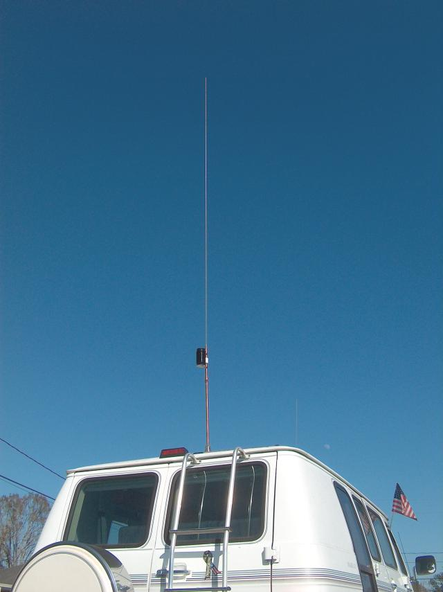 A High Efficiency Extended Length Mobile Antenna
