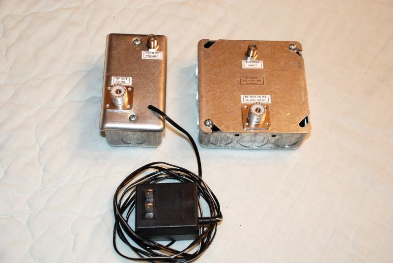 The finished &lifier is in the box on the right. The DC power injector is in the box on the left. For optimum results at HF a 50 Ohm coaxial cable should ... & A Remotely Powered RF Preamplifier for the 600 Meter Band Aboutintivar.Com